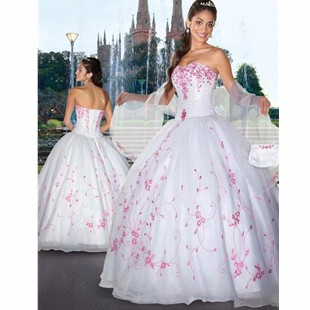 Fashion-White-Ball-Gowns-Quinceanera-Dresses-with-Wrap-Strapless-Sleeveless-Backless-Lace-Up-Vestidos-de-15