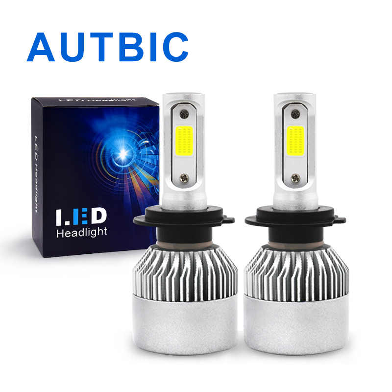 H7 LED H4 H1 H3 H11 9005 9006 Headlight Bulbs 12V 72W 8000Lm IP65 COB Super Bright S2 Headlamp Kit Hb3 Hb4 Fog Lamp Auto Light