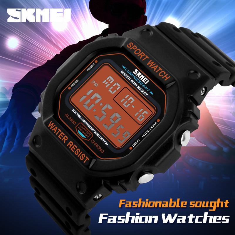 SKMEI Men's LED Display Digital Watch Mens Sport Watches Relogio Masculino Montre Homme Relojes Hombre Waterproof Wristwatches цена