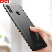 MSVII Frosted Shell For Xiaomi Mi Max 3 Case Xiomi Max3 Cover Ultra-thin Slim Fashion Hard PC Simple Back Cover For Mi Max 3(China)