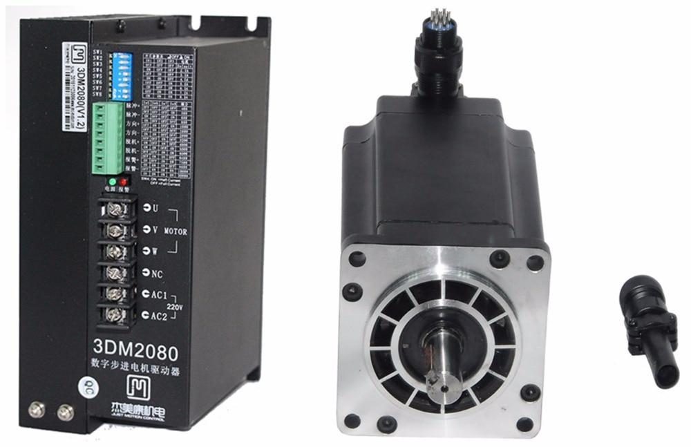 NEMA42 12Nm 1700ozin Hybrid stepper motor driver kit 3phase 80-240VAC for CNC engraving cutting 110J12161-360+3DM2080 original 2 phase cnc stepper motor driver ykc2405m