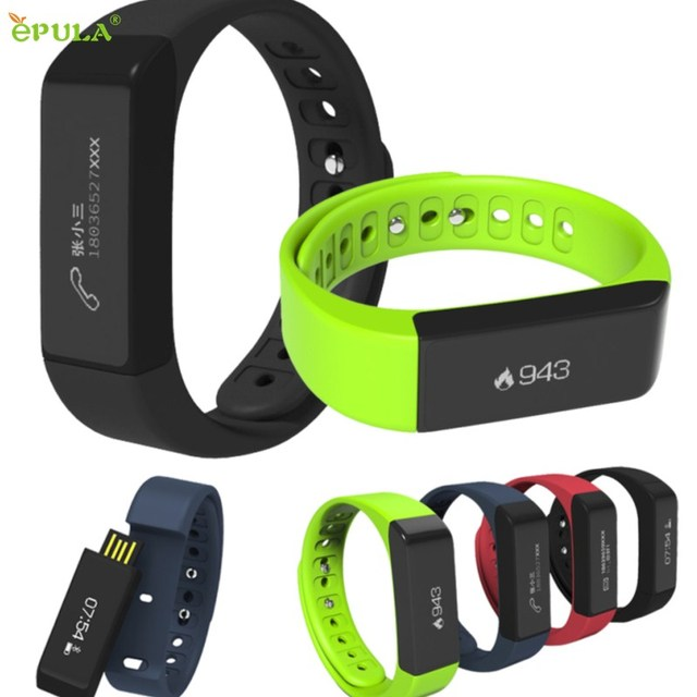 EPULA Superior Quality I5 Plus Bluetooth 4.0 Bracelet Sports Tracking Wristband Call Message Reminding Smart Watch Sept6
