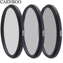 CAENBOO Camera Filter Neutral Density Circular ND2 4 8 37 40.5 43 46 49 52 55 58 62 67 72 77 82mm For Canon Nikon Sony DSRL Lens(China)