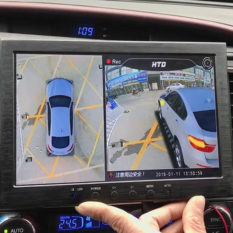 Date 3D HD Surround la Surveillance de la Vue Système 360 Degrés Conduite Oiseau Voir Panorama De Voiture Caméras 4-CH DVR Enregistreur avec G capteur