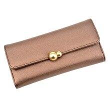 Купить с кэшбэком 2019 Fashion Long Women Wallets High Quality PU Leather Women's Purse and Wallet Design Lady Party Clutch Female Card Holder