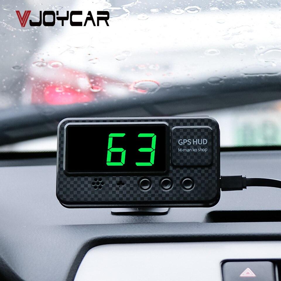 Velocímetro Universal Hud GPS pantalla frontal para coche pantalla de velocidad con alarma de exceso de velocidad MPH KM/H para todas las actualizaciones de vehículos A100