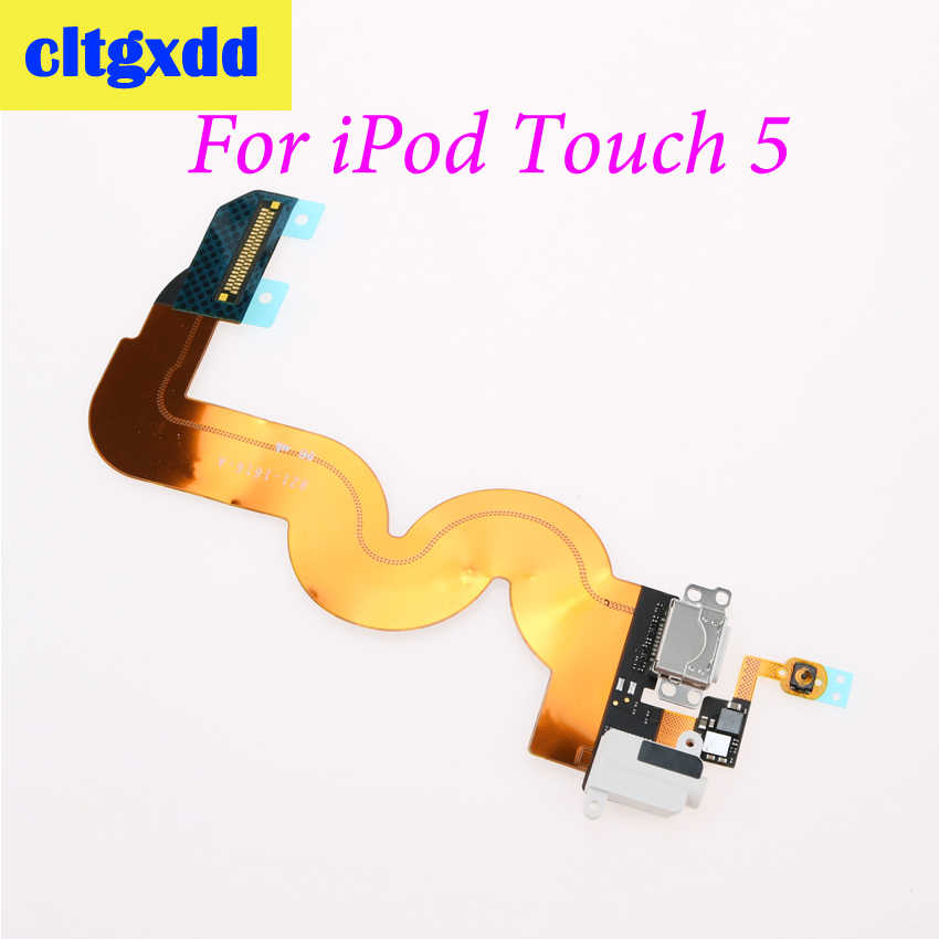 Cltgxdd domu przycisk Menu Audio 3.5mm gniazdo Jack stacja ładująca Port USB do ładowania złącze Flex kabel do iPoda Touch 5 biały