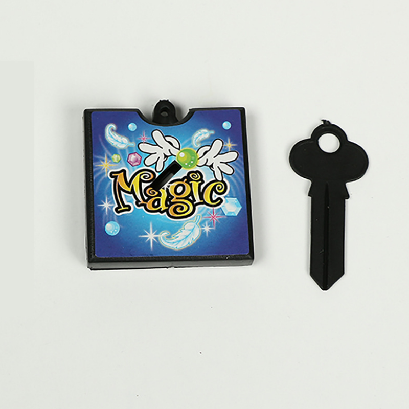 1 set novel Magic key through box through key shells the key into the currency coin key plastic wall magic props magic toys
