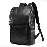 Luxury Brand Backpack Men Antitheft School Bag Leather Travel Bag Male Casual Bagpack For Teenager 14 Laptop Rucksack mochila