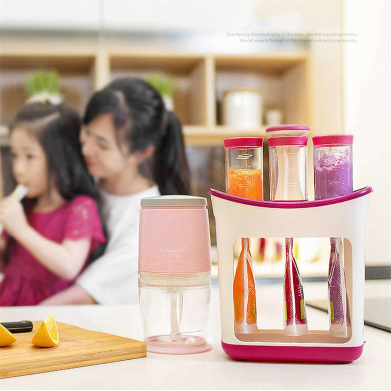 wholesale Squeeze Juice Station Baby Food Organination Storage Containers Baby Food Maker Set Fruit puree Packing machine|Manual Juicers|   - AliExpress