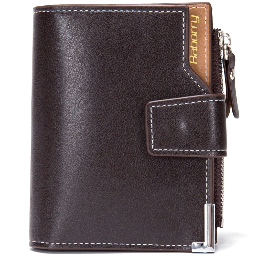 Fashion Men Small Wallet Clutch PU Leather Business Male Wallets Zipper & Hasp Money Coin Pocket ID Card Holder Men Purse W077 never leather badge holder business card holder neck lanyards for id cards waterproof antimagnetic card sets school supplies