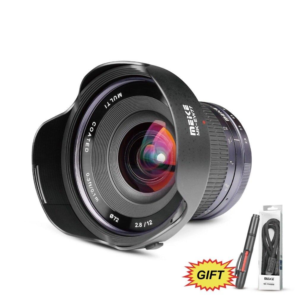 Meike 12mm f/2.8 Ultra Grand Angle Fixe APS-C Lentille avec Amovible Hood pour Fujifilm X Mont Mirrorless APS-C Caméra X-Pro2 X-E3