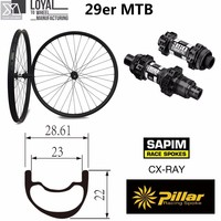 29er горный велосипед углерода колесная 29 колеса 28 мм ширина 25 Глубина с MTB DT swiss 350 концентратор