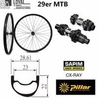 29er mountain bike carbon wheelset 29 carbon wheels 28mm Width 25mm depth with MTB DT swiss 350 hub