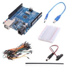 New 2019 Starter Kit With Uno R3+Breadboard+Jumper Wires+USB Cable+9V Battery Connector