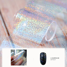 1pcs Starry Sky Lettering On The Nails Clear Laser Transfer Foil designs For 3d Nail Stickers Decals Manicure Design