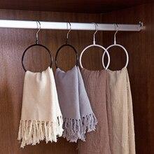 Круглые черные белые золотые металлические вешалки вешалка для бикини простой пояс кольцо вешалка шарф Вешалка для спальни шкаф