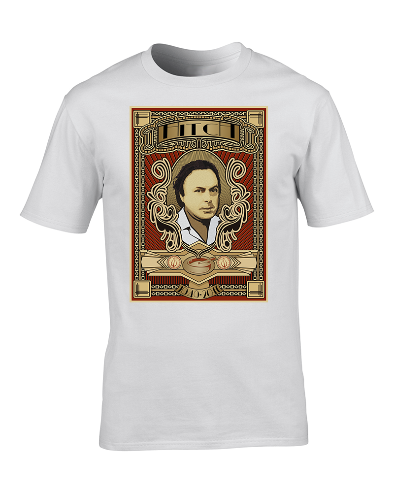 HITCH 1949-2011 - Voice of Reason - Art Deco style Mens Tshirt
