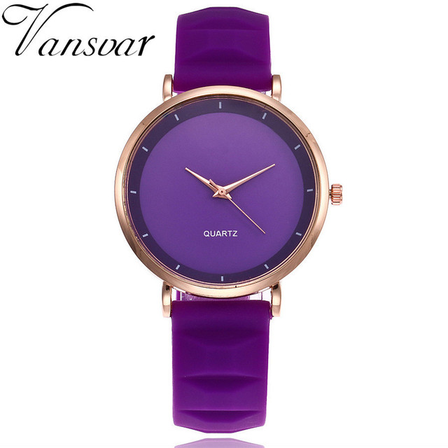 Vansvar Fashion Jelly Silicone Women Watches Luxury Brand Casual Ladies Quartz Clock Wristwatches Clock Relogio Feminino Hot