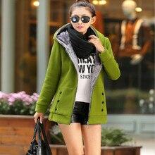 2017 newest Plus Size Autumn Winter Women Casual Outwear Hoodies Sweatshirt Long Sleeve Hooded Fleece Warm Long Coat Jackets