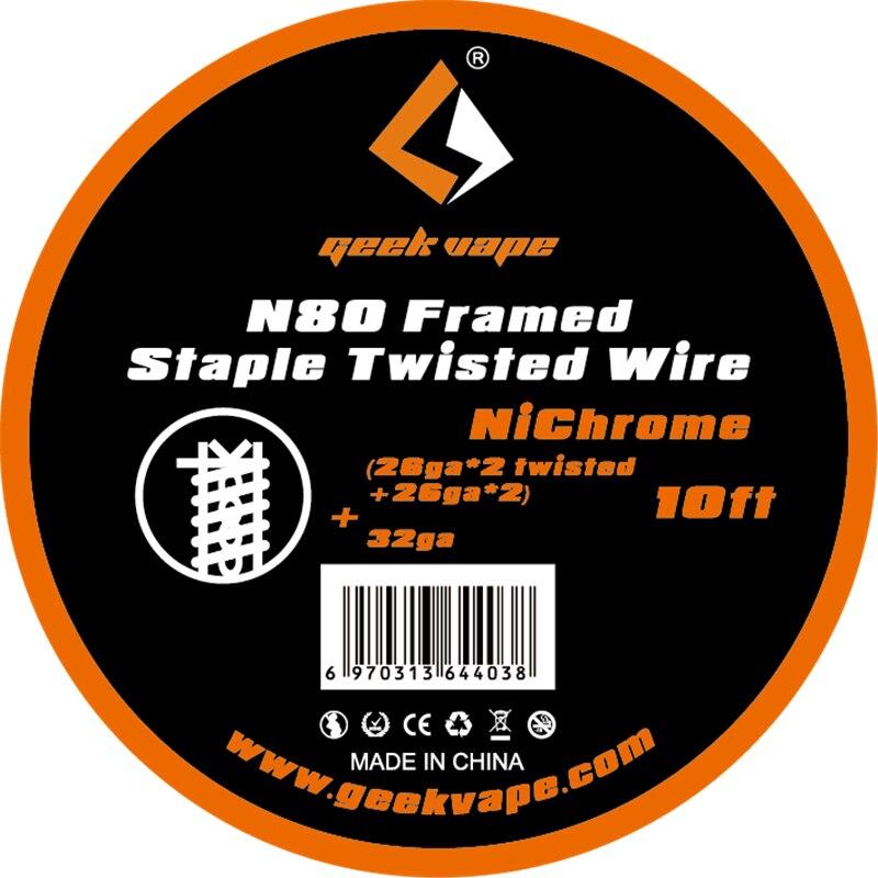 Originale Geekvape N80 Incorniciato Fiocco filo ritorto Fused clapton filo per sigaretta elettronica bobine Vape FAI DA TE