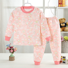 Free shipping New Cartoon Boys Girls Clothes warm cotton Baby's Sets WY503-WY523