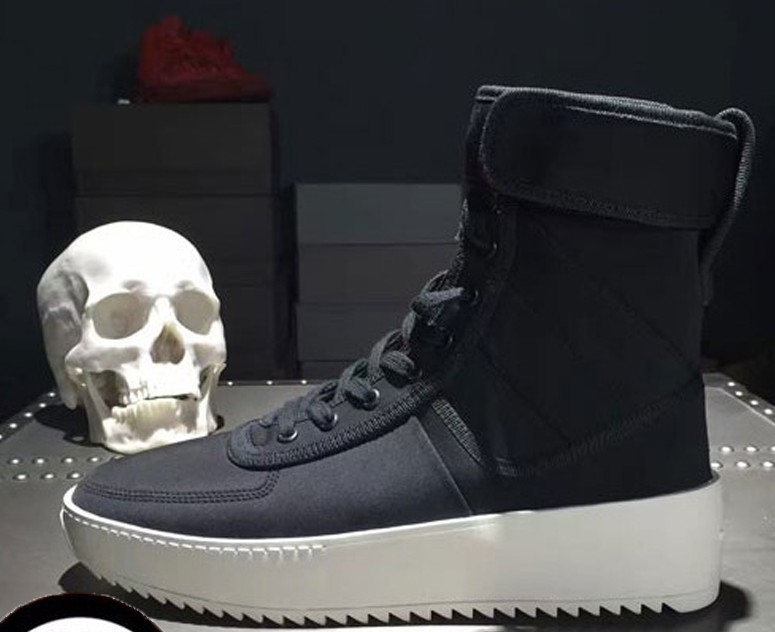 New FOG Style Boots Justin Bieber Boots  Shoes Top Quality Kanye Weat Boots Men Casual Botas Genuine Leather