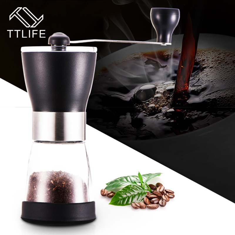 2017 TTLIFE New Portable Manual Coffee Grinder Washable Stainless Steel For Home Kitchen Mini Mill Manual