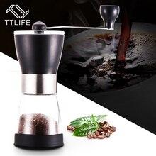 2017 TTLIFE Neue Tragbare Manuelle Kaffeemühle Waschbar Edelstahl Für Haus & Küche Mini Mühle Manuelle Hand Kaffeemühle