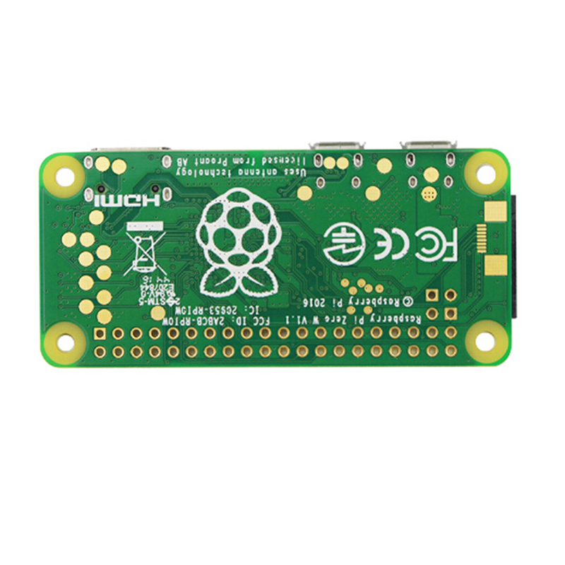 For Raspberry Pi Zero W Board 1GHz CPU 512MB RAM With Built-in WIFI & Bluetooth RPI 0 W