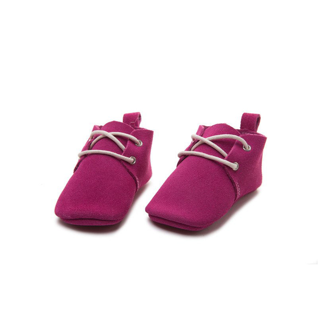 Handmade Rose pink Baby Moccasins Oxford Baby Shoe