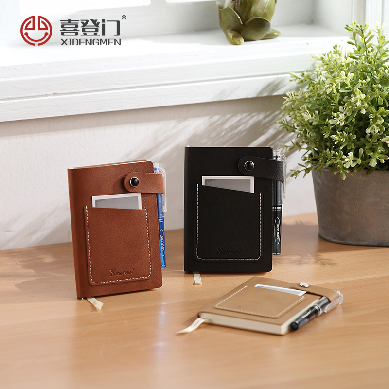 9 colours mini A7 pocket PU leather notebook portable stationery note book diary agenda journal notepad office business gifts a5 secret diary book restoring vintage notepad high end notebook notebook agenda journal school office student stationery supply