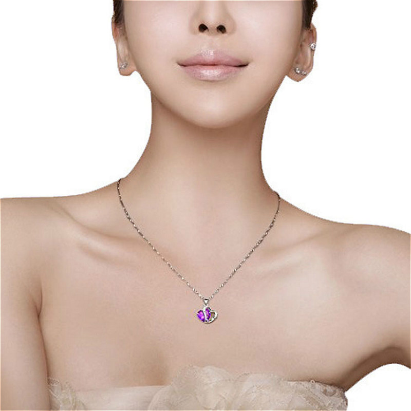 2018 Hot Sell Top Class Fashion Heart Choker Necklaces Crystal Jewelry New Girls Women Jewelry