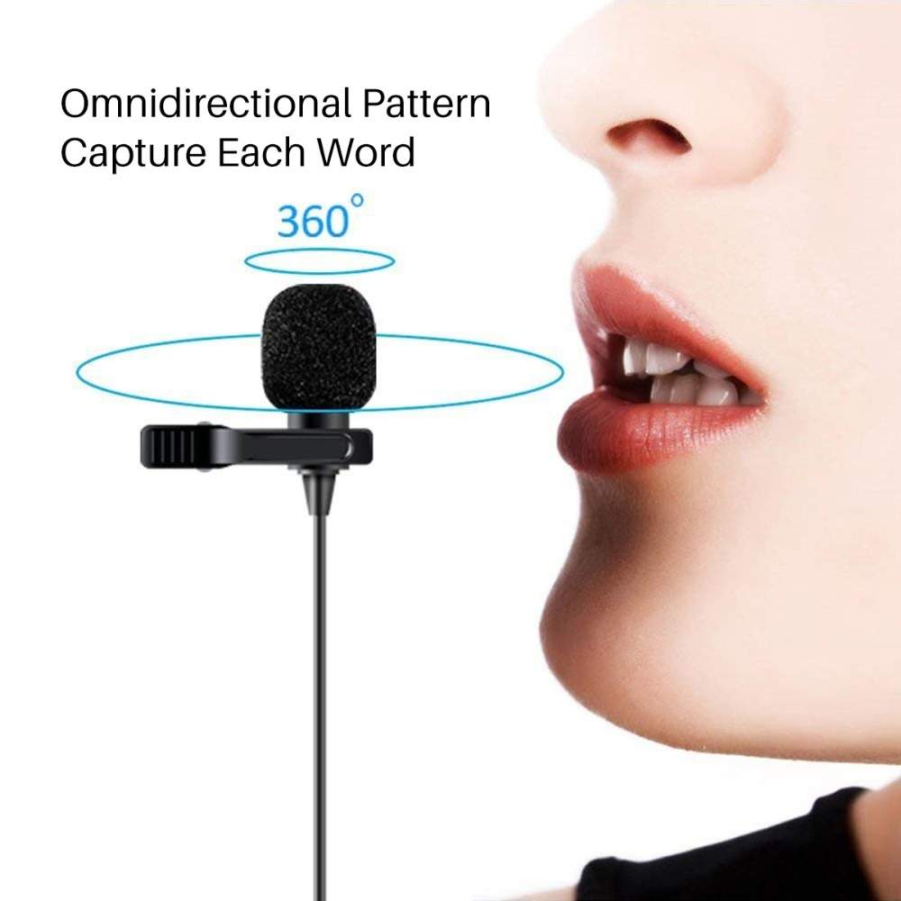 BOYA BY-M1 3 5mm Audio Video Record Lavalier Lapel Clip Microphone for  iPhone Android Mac Vlog Mic for DSLR Camcorder Recorder