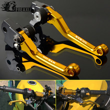 CNC Motocross Pit Pivot Dirt Bike Brake Clutch Levers For YAMAHA XTZ125 XTZ 125 2004 2005 2006 2007 2008 2009 2010 2011 2012 стоимость