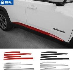 MOPAI ABS samochód drzwi boczne dekoracja do formowania pokrywa wykończenia naklejki dla Jeep Renegade 2015 Up akcesoria zewnętrzne Car Styling