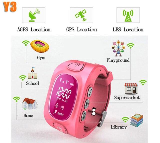 2016 Новый Arrial GPS/GSM/Wifi Tracker Часы для Детей Дети Smart Watch с SOS Поддержка GSM телефон Android и IOS Борьбе Потерянный Y3