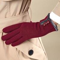 Frauen Herbst Und Winter Taste Warme Handschuhe Mode Damen Touchscreen Flannelet Thermische Handschuhe Handschuhe