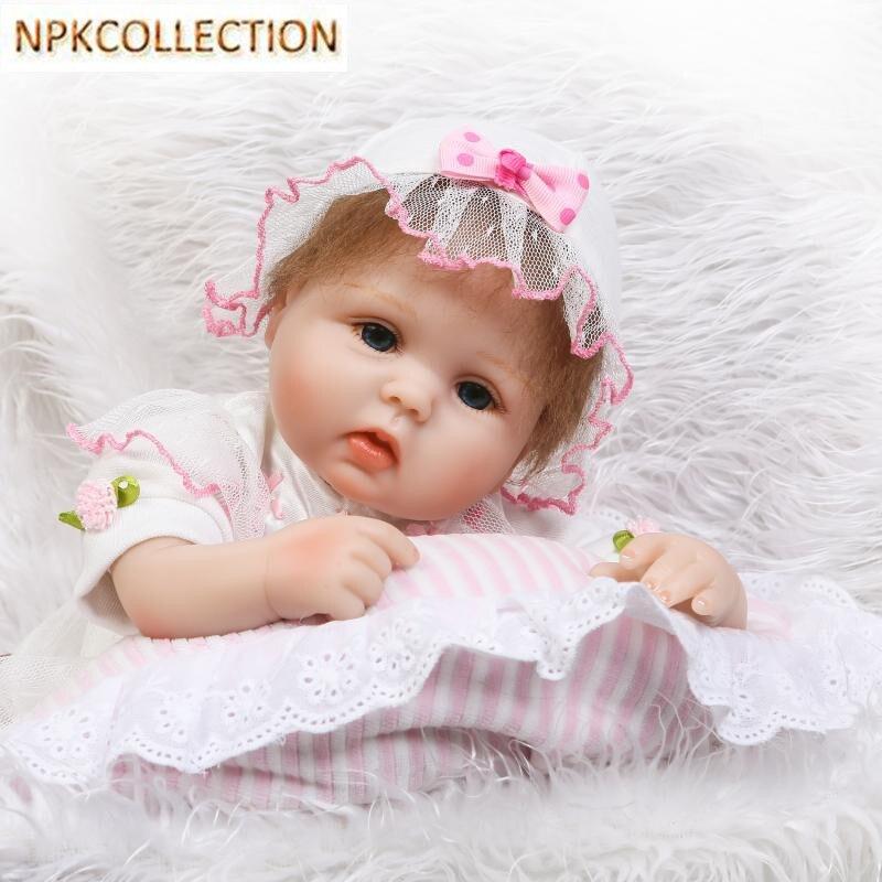 NPKCOLLECTION Silicone Reborn Dolls Soft Cotton Body Baby Doll Toys for Children,15 Inch Reborn Babies Bonecas Toys