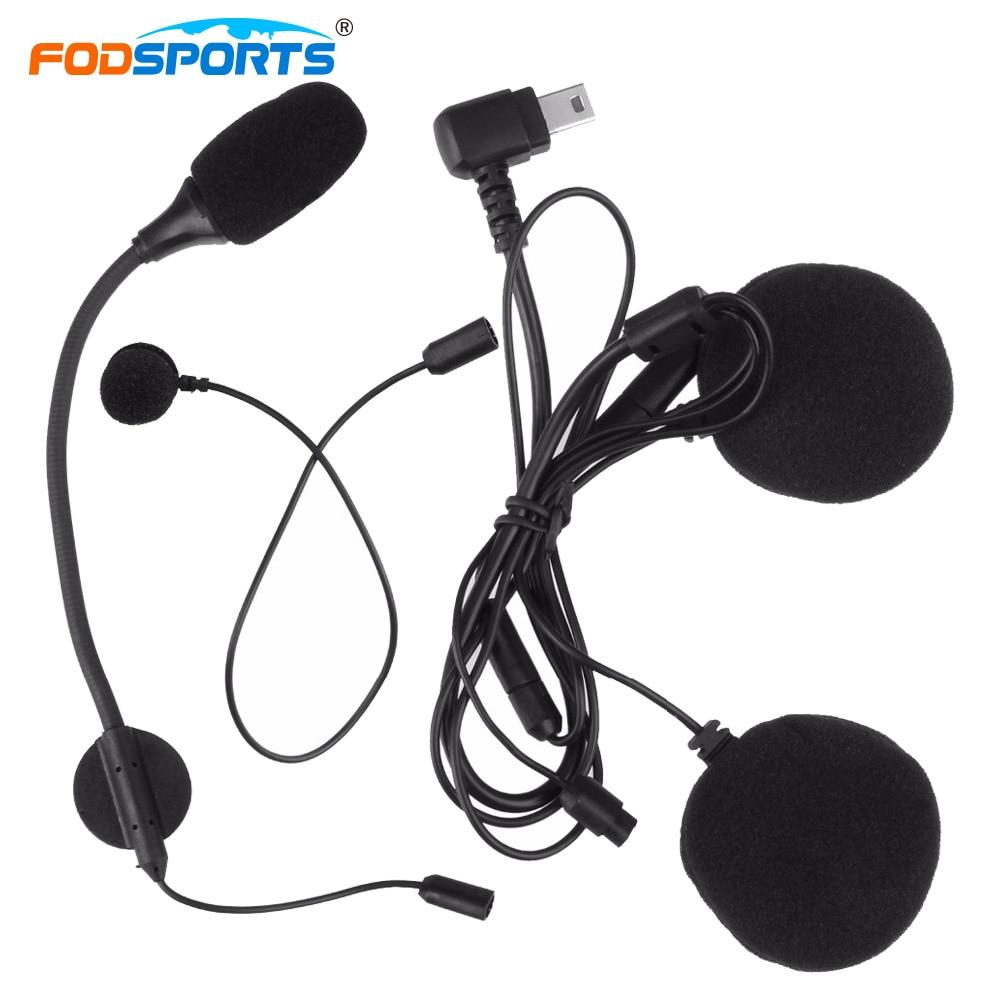 Fodsports M1-S Intercom Earpiece Soft And Hard Earphone Together Stereo Music