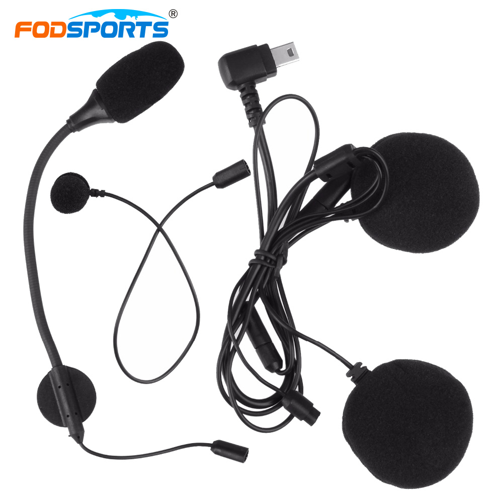 Fodsports M1-S Intercom Headset Earpiece Earphone with Microphone for Motorcycle Helmet Bluetooth