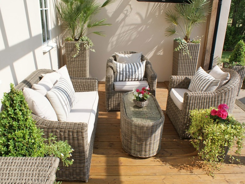Nice 2017 Jinhua Trade Assurance All Weather Beige Outdoor Small Used Wicker  Furniture(China (Mainland