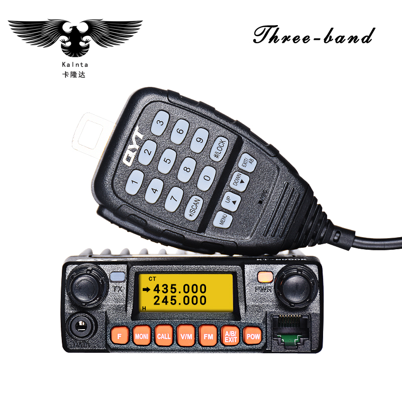 QYT KT 8900R Upgraded Mini Car radio VHF/UHF Tri band 25W 200CH Scramble FM 8900r Car Mobile Transceiver Radio 50 for Cars
