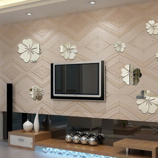 Fancy Fix Acrylic Mirror Effect Wall Decals Flower Shaped Mirrors Stickers In From Home Garden On Aliexpress Alibaba Group