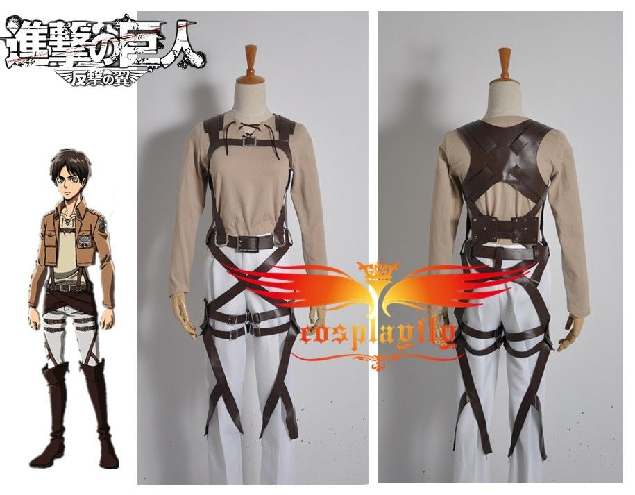 Brown Belt System Only Attack on Titan Shingeki no Kyojin Eren Jaeger For Cosplay Costume  Outfit Clothing For Adult (W0238-2)