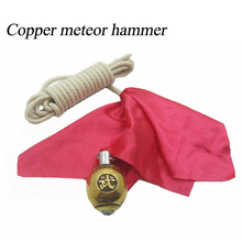 Copper meteor hammer Chinese martial art weapon  Wushu Kung Fu send 4 meters of rope and hammer color