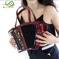 MLITDIS 2017 new accordion musical instrument package women's handbag shoulder handbag travel Creative Bags art female