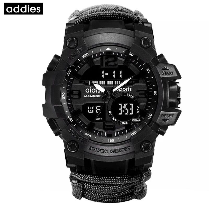 Top Luxury Brand Aidis Men Military Watch Flintstone Outdoor Compass Waterproof Sports Digital Quartz Watches Relogio Masculino Outstanding Features Watches Digital Watches