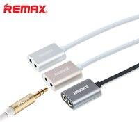 Remax 1-2 аудио наушников Удлинительный кабель 3.5 мм Aux сплитер адаптер мужчин и женщин для автомобиля iphone Динамик DVD