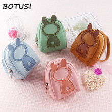 цены BOTUSI  Key Ring Cartoon Coin Purses Women Wallets Small Cute Kawaii Card Holder Good Gift Bags for Girls High Quality